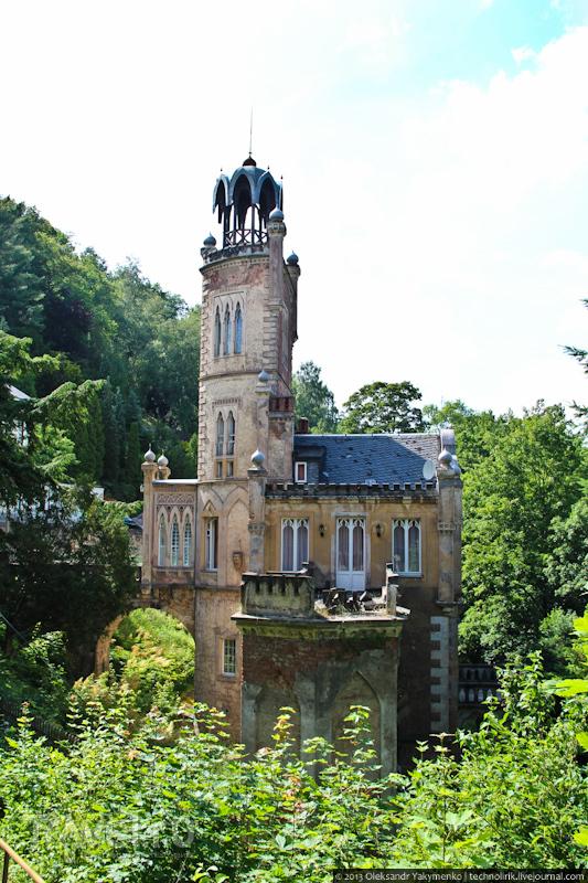Тарандт: руины замка и заброшенный дворец / Германия