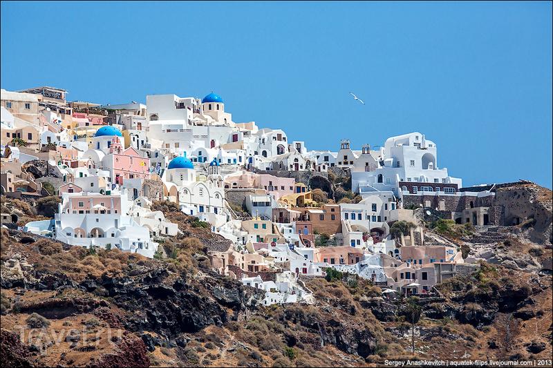 Город Ия на острове Санторини, Греция / Фото из Греции