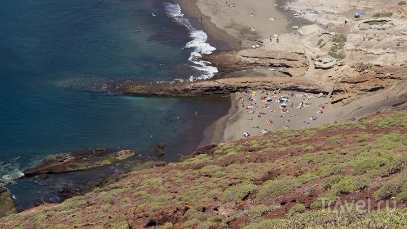 Пляж Техита у города Эль-Медано на острове Тенерифе, Испания / Фото из Испании