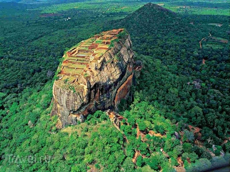 С V века до нашей эры на скале Сигирия находился буддистский монастырь / Шри-Ланка