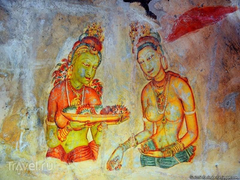 До наших дней дошло лишь 19 из 500 уникальных росписей, Шри-Ланка / Шри-Ланка
