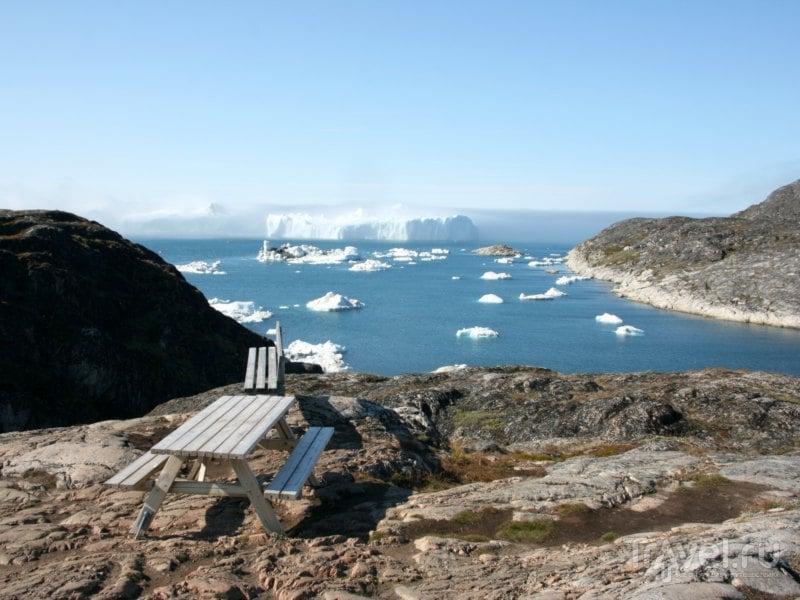 Смотровая площадка на фьорде Илулиссат, Гренландия / Гренландия