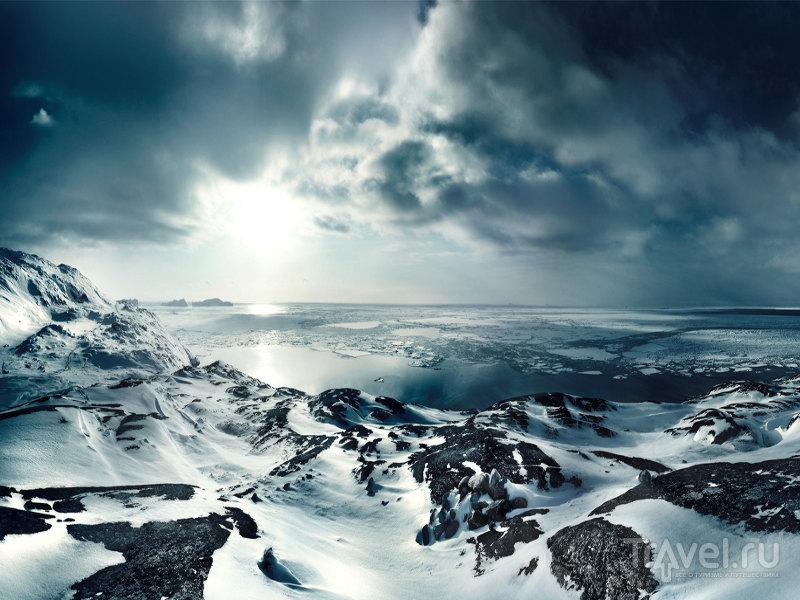 Ландшафты первозданных пространств фьорда Илулиссат в Гренландии / Гренландия