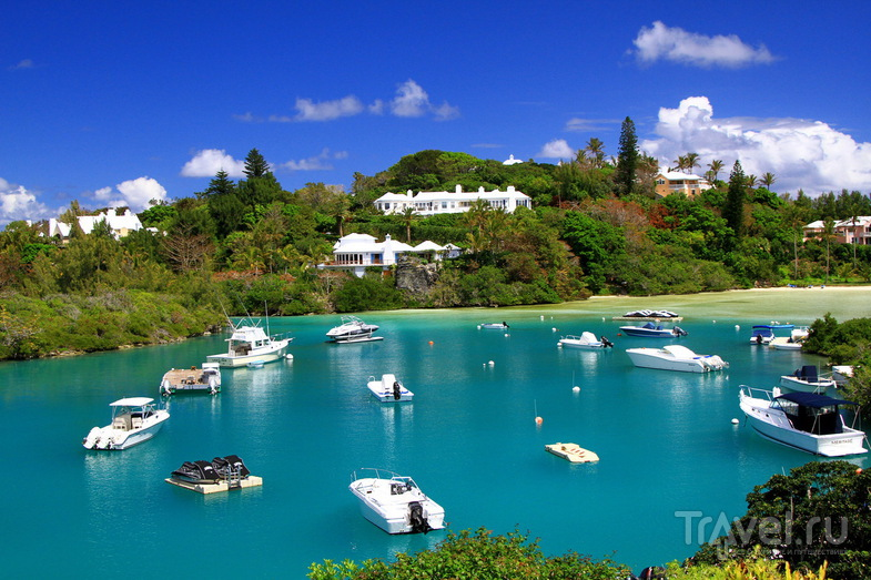Tucker Town Wharf и пляж Baby beach, Бермудские острова / Фото с Бермудских островов