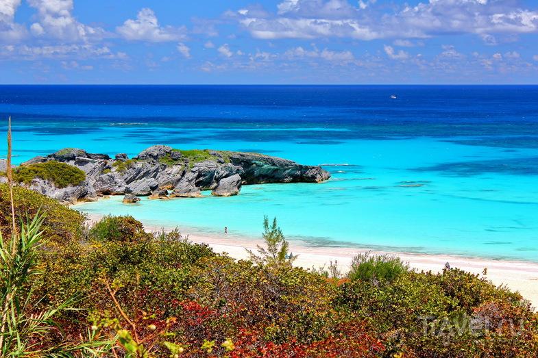 Пляж Horseshoe Bay Beach, Бермудские острова / Фото с Бермудских островов