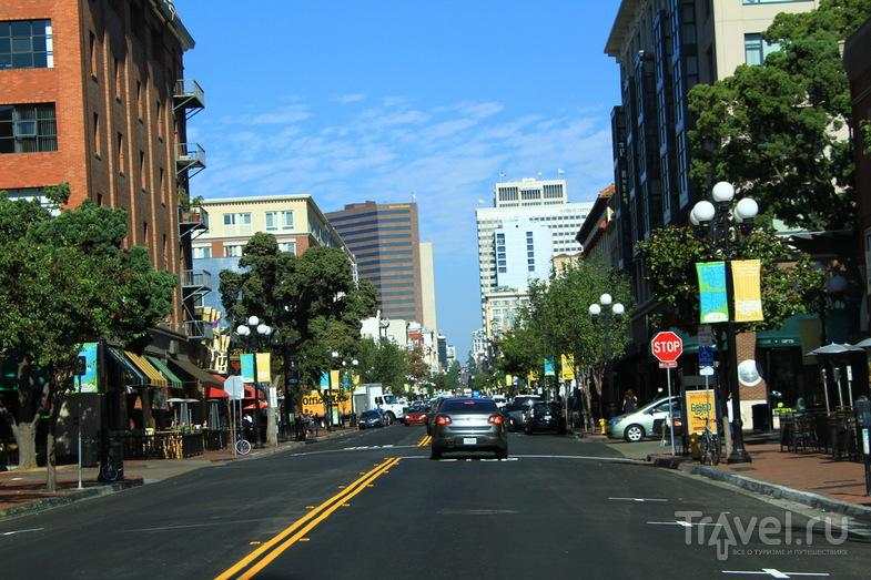 Район Gaslamp Quarter  в Сан-Диего, США / Фото из США