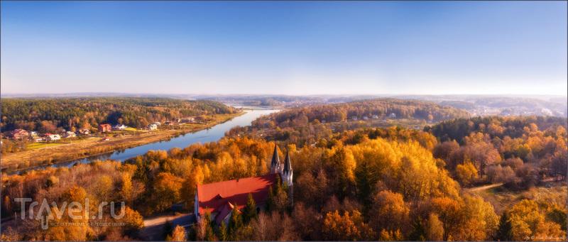 Место для роуп-джампинга - Большой Раубический трамплин. Вид на окрестности / Фото из Белоруссии