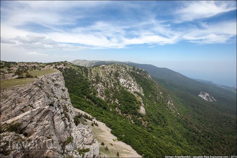 Перевал Писара-Богаз  в Крымском природном заповеднике, Украина / Фото с Украины