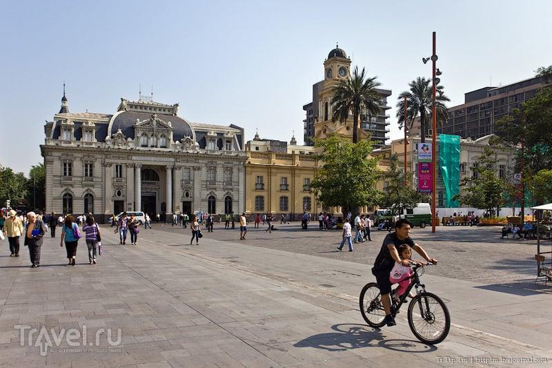 Пласа-де-Армас в Сантьяго, Чили / Фото из Чили