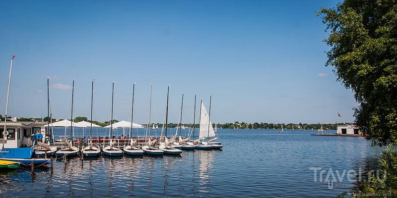 Гамбург. Озеро Alster. Старый город / Германия