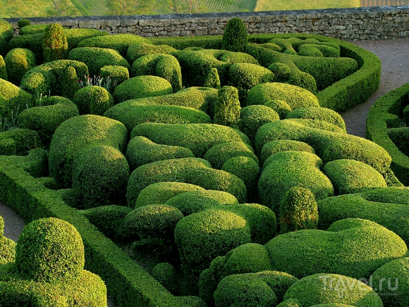 Живописные ландшафты садов Маркесак в Аквитании / Франция