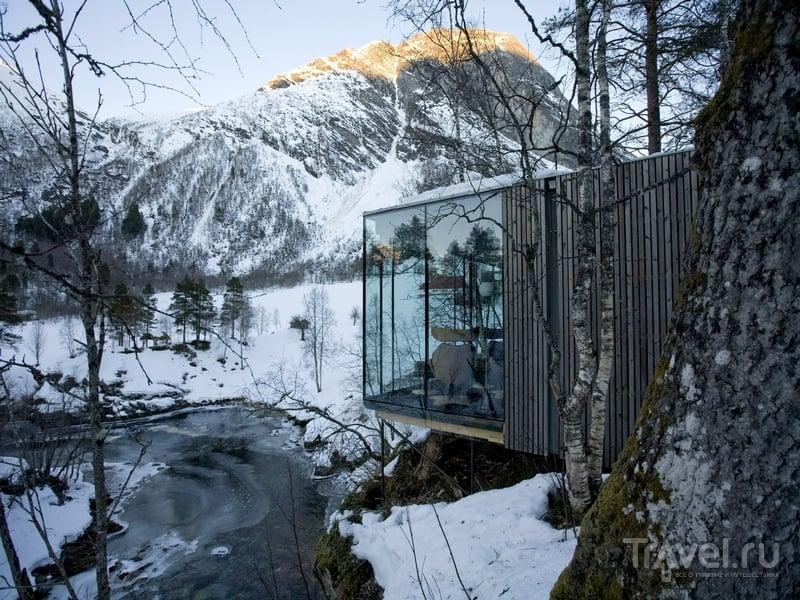 Минимализм - основа концепции отеля Juvet Landskapshotell в Норвегии / Норвегия