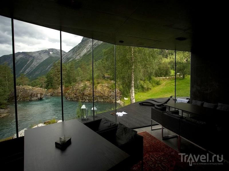 Ресторан для постояльцев в отеле Juvet Landskapshotell, Норвегия / Норвегия