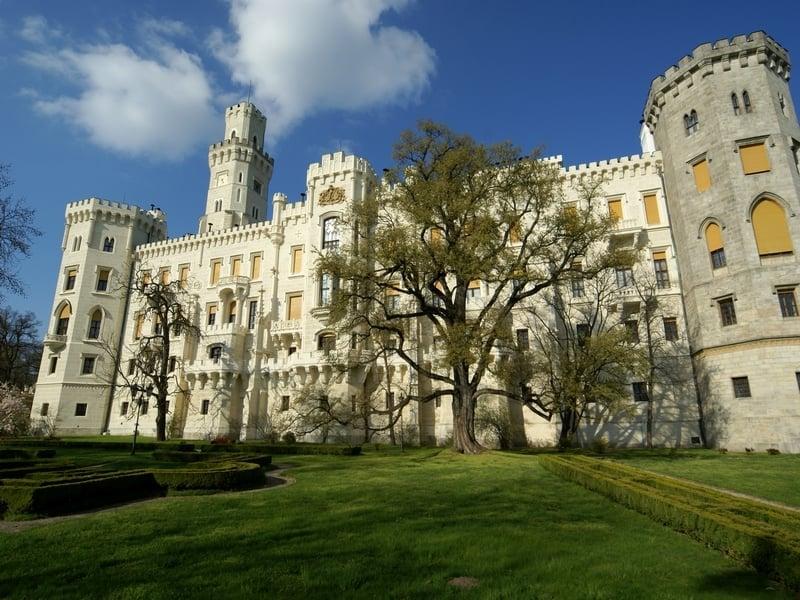 Замок Глубока-над-Влтавоу в южной Чехии / Чехия