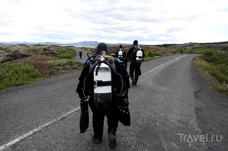 Ущелье Силфра в в парке Тингвеллир, Исландия / Фото из Исландии