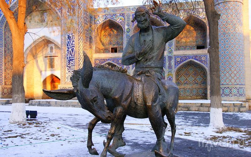Памятник Ходже Насреддину в Бухаре, Узбекистан / Фото из Узбекистана