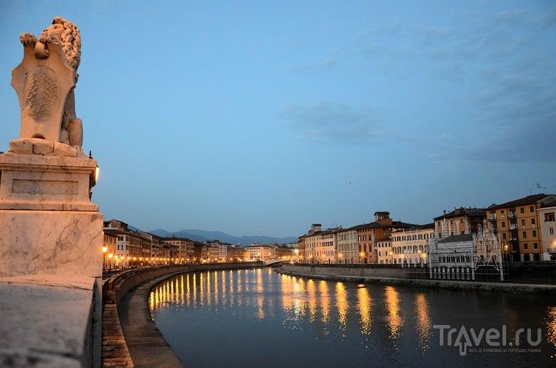 Река Арно в Пизе, Италия / Фото из Италии