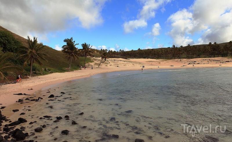 Пляж Анакена на острове Пасхи, Чили / Фото из Чили