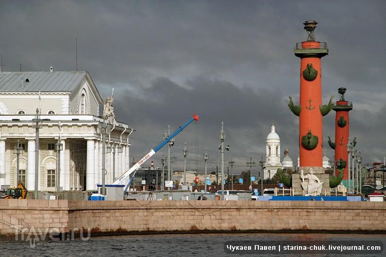 Стрелка Васильевского острова в Санкт-Петербурге, Россия / Фото из России