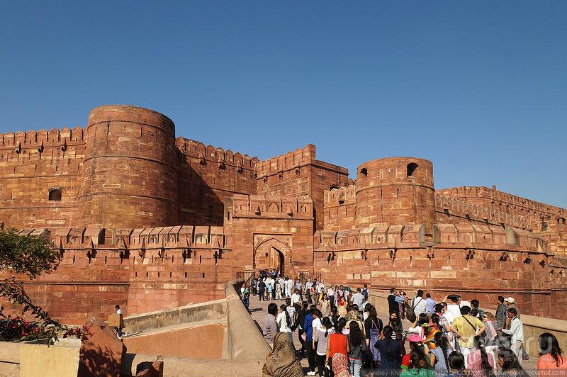 Красный форт в Агре, Индия / Фото из Индии