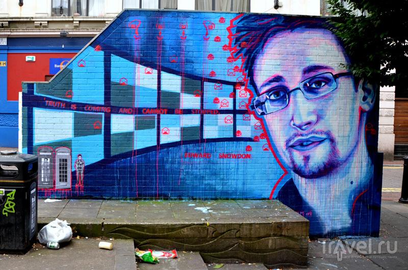 Граффити с Эдвардом Сноуденом в Манчестере, Великобритания / Фото из Великобритании