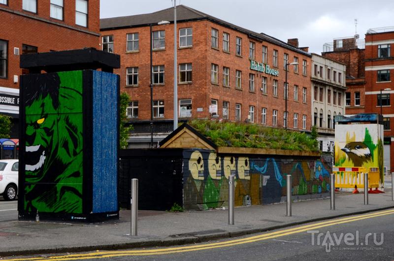 Граффити в районе Nothern Quarter в Манчестере, Великобритания / Фото из Великобритании
