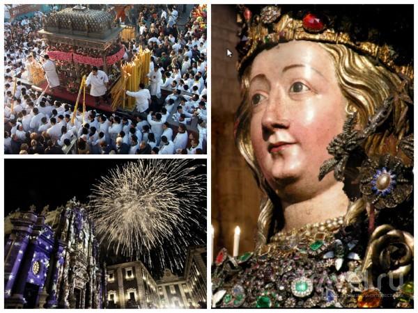 Праздник Святой Агаты - век живи век удивляйся / Италия