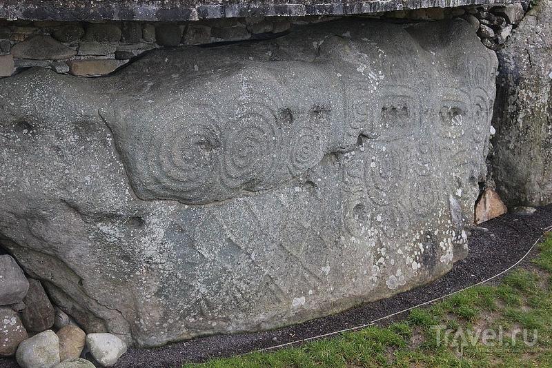 Кельтские рисунки на валунах, Ньюгрейндж / Ирландия