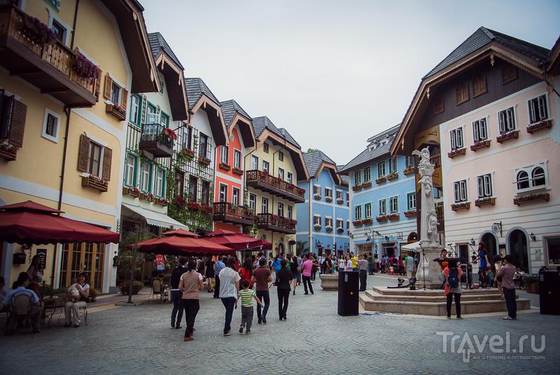 Китайская копия австрийской деревни Hallstatt / Китай