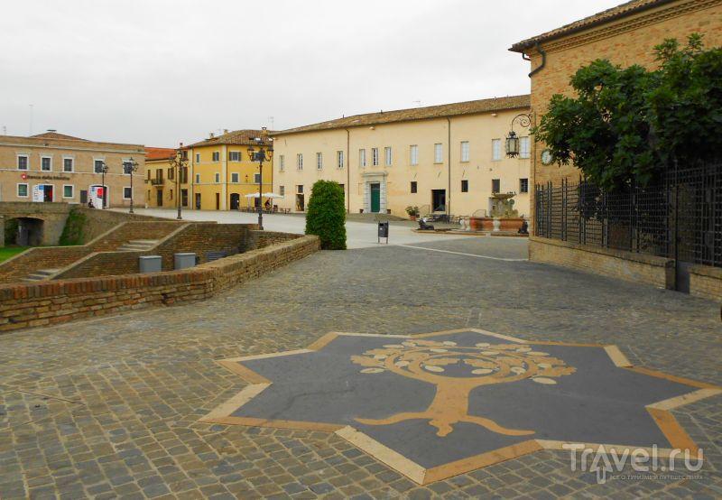 Герб семьи Ровере рядом с крепостью в Сенигаллии, Италия / Фото из Италии