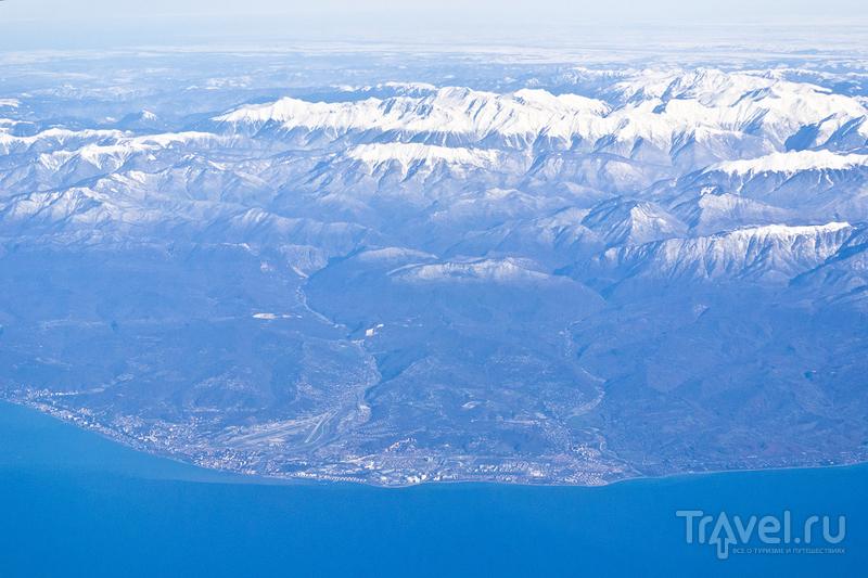 Вид на Сочи с самолета / Фото из Турции