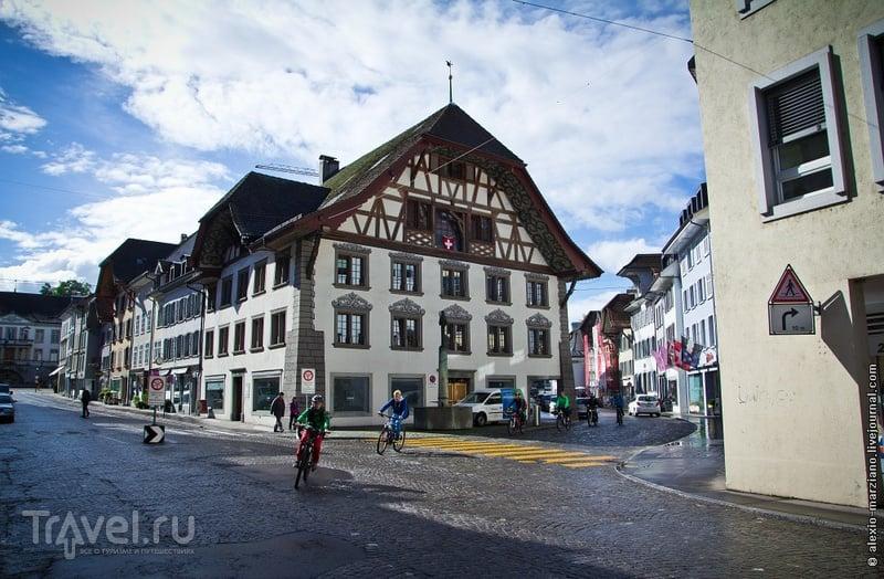 В старой части города Арау, Швейцария / Фото из Швейцарии