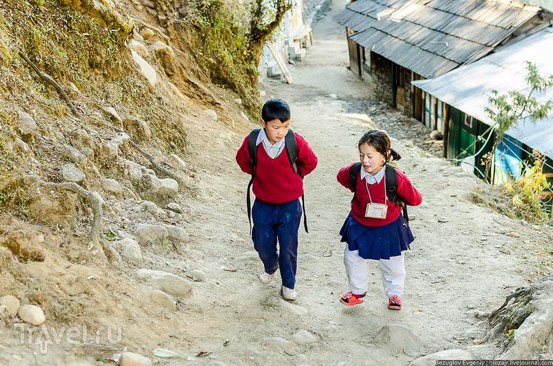 Непал. Вниз в Phakding. Ноябрь / Фото из Непала