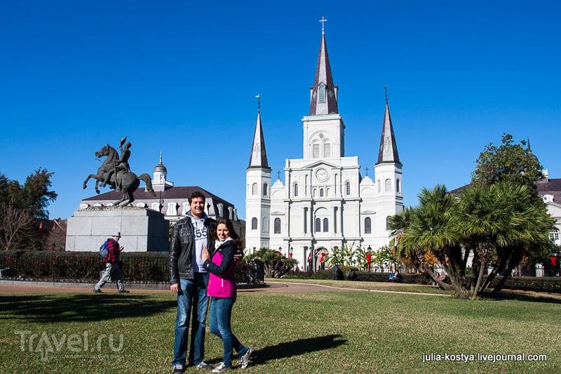 Собор Святого Людовика во Французском квартале в Новом Орлеане, США / Фото из США