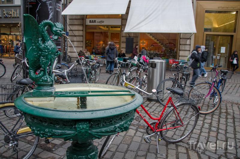 Базилиск в окружении велосипедов / Фото из Швейцарии