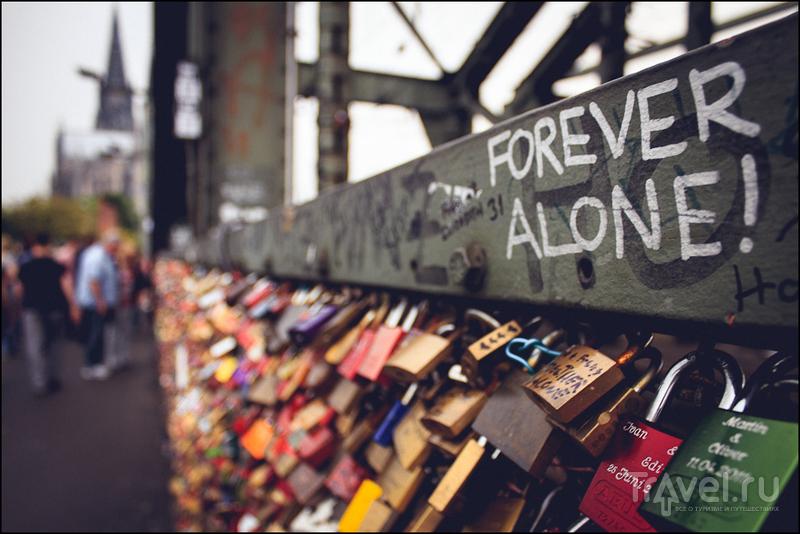 На мосту Hohenzollernbrücke в Кёльне, Германия / Фото из Германии