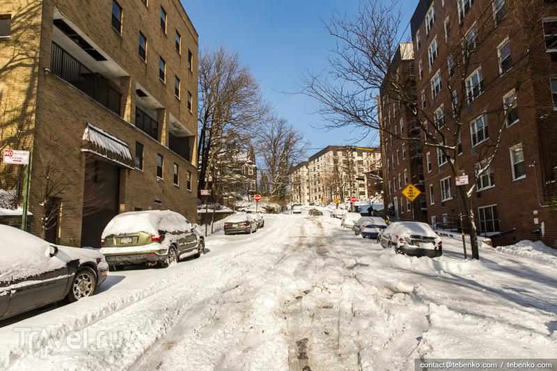 Зима в Нью-Йорке. Снег на Манхэттене / США