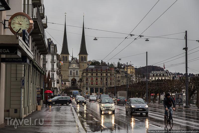 Церковь Хофкирке в Люцерне, Швейцария / Фото из Швейцарии