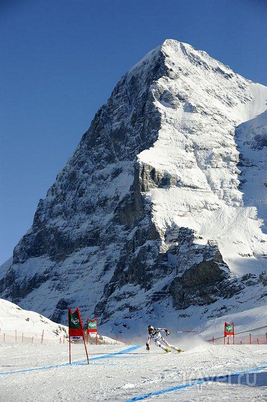 Лауберхорн считается одной из самых опасных лыжных трасс в мире / Швейцария