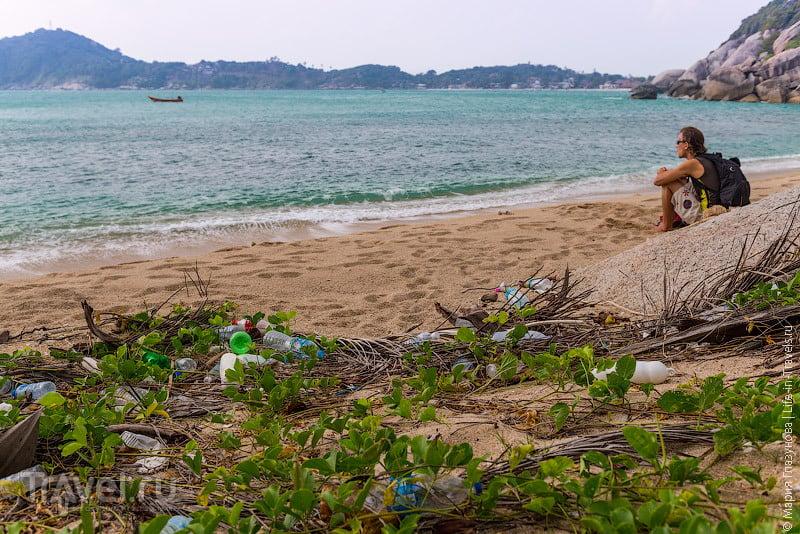 Пляж на Haad Khonthi острове Панган / Таиланд