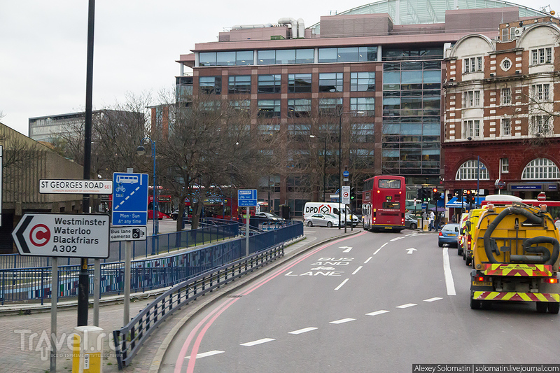 Париж - Лондон на автобусе через Ла-Манш / Великобритания