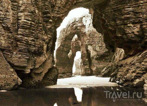 Пляж кафедральных соборов в Рибадео. Галисия, Испания / Испания