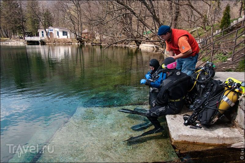 Дайвинг в карстовом озере. Чирик-Кёль, Армения / Фото из России