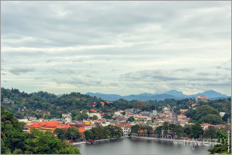 Вид на центральную часть Канди / Шри-Ланка