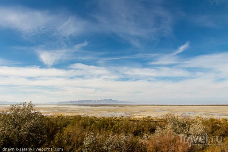 Большое Соленое озеро и Солт-Лейк-Сити, США / Фото из США