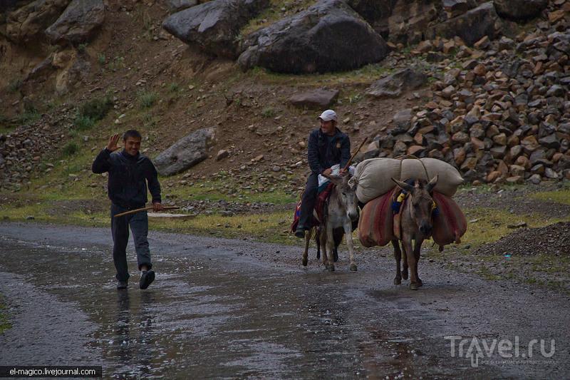 Окрестности Байсуна: Кызыл-каньон и Дербентские горы во время бушующей стихии. Местный колорит / Фото из Узбекистана