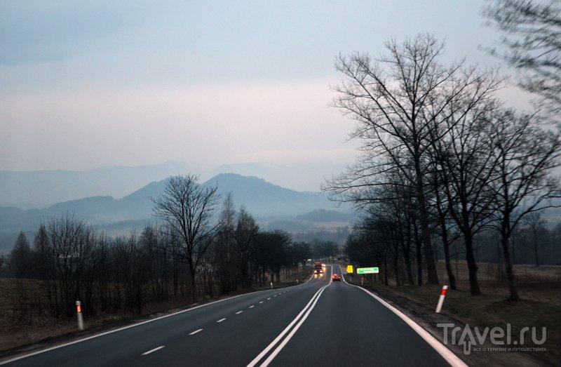 Впереди виднеются Карконоше - горная цепь, проходящая по территории Нижней Силезии. / Фото из Польши