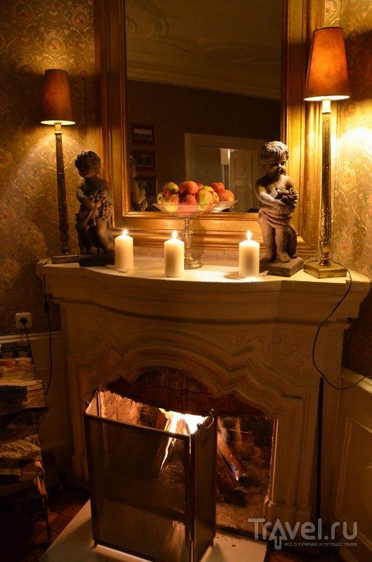 Камин в столовой-гостиной. / Фото из Польши