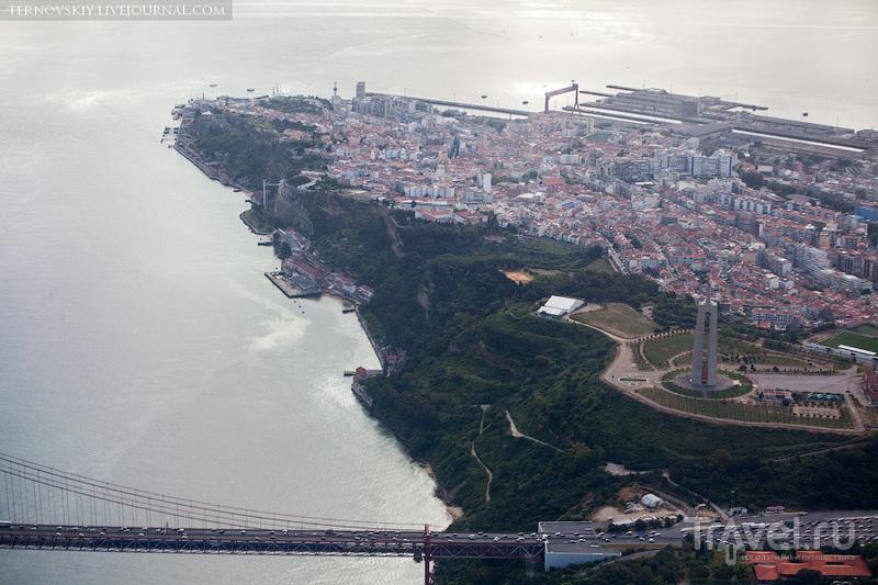 Португалия и Лиссабон с самолета и закат на мысе Рока / Фото из Португалии
