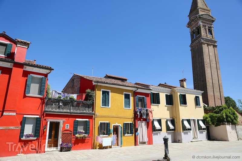Бурано - самый яркий остров Венеции / Италия